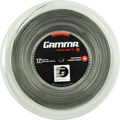 Gamma Moto Soft 200M Charcoal Tennis Rotolo di Corde 200M Monofilamento Grigio 1,24