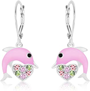 Premium 8MM Crystal with Pink Enamel Dolphin