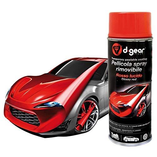 Vernice Pellicola Spray RIMUOVIBILE Removibile Wrapping D Gear 400ml (Rosso Lucido)