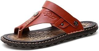 Newbestyle Homme Chaussure été Sandales Cuir Souple Sandales de Plage Tongs