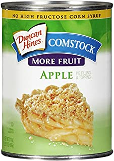 Comstock More Fruit Pie Filling & Topping, Apple, 21 Ounce
