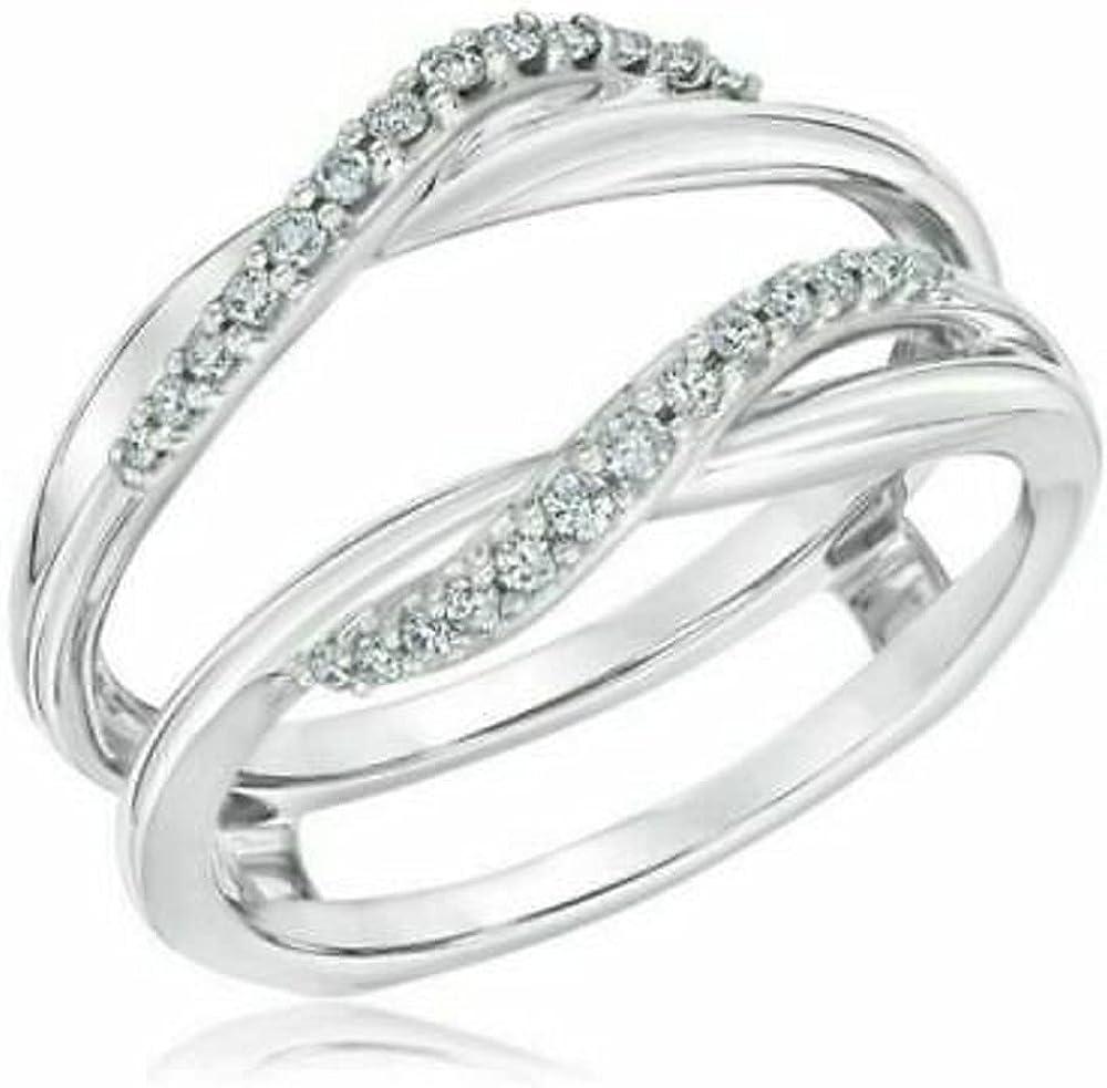 Ranking TOP2 Ismatara Round Popular Cut White Diamond in Sterling 925 14K Gold Silver