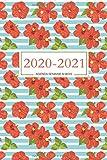 2020 2021 agenda semainier académique   1er septembre 2020 au 1er septembre 2021   français   2 PAGES par SEMAINE   vue hebdomadaire , mensuel & ... organiseur planificateur   fleurs , hibicus