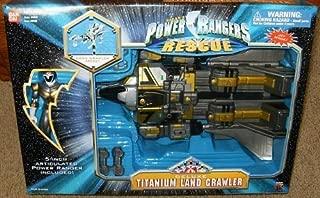 Power Rangers Titanium Land Crawler Deluxe Lightspeed Rescue Action Figure