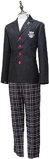 qyy Anime Cosplay Costume Men's High School Uniform Halloween Party Cosplay Costume Boys Set,Suit-XL