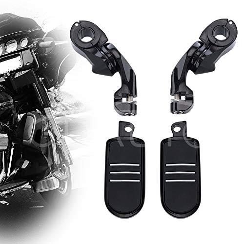 Highway Pegs Motorcycle Footpegs Foot Rest(Black) for Harley Honda Road King Street Glide Suzuki Yamaha Kawasaki Engine Guard