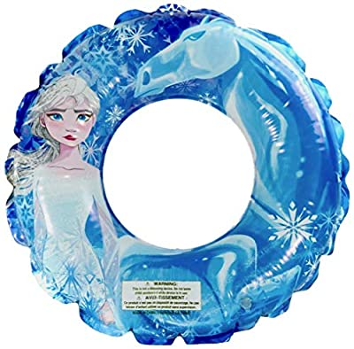 Disney Frozen 2 Themed Pool Party Toys Inflatable Swim Ring, for Summer Parties and Gift, Water Fun for All Disney Elsa Anna Olaf Fans