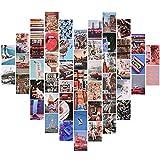 Houdao 50 Pezzi (14.8cm x 10.5cm) Decorazioni Camera da LettoStickers Aesthetic HD Kit Collage da Parete per Camera Parete