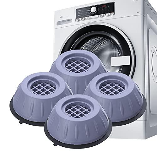 Soporte de lavadora antivibraciones y antirruido, pies de lavadora, pies de lavadora de goma antirruido, antideslizantes y a prueba de golpes, estabilizador de lavadora (L:10.5 x 2.5 x 4.7 cm)