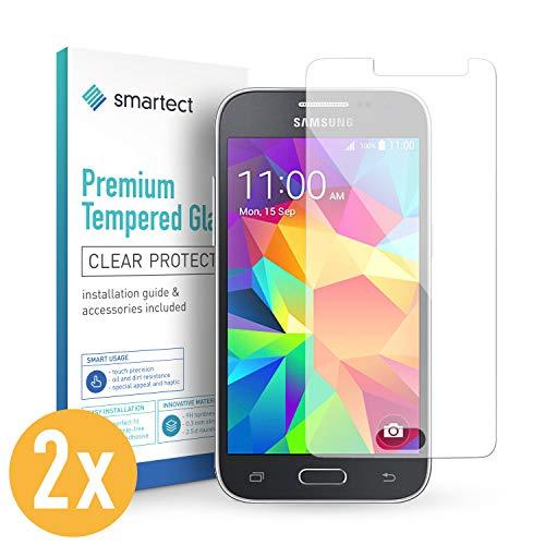 smartect Protecteur d'écran en verre pour Samsung Galaxy Grand Prime [2 Pièces] - Verre trempé 9H - Design Ultra-mince - Installation sans bulles - Protection Anti-traces de doigts