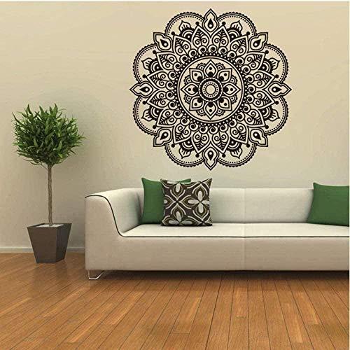 Pegatinas de pared Papel tapiz decorativo para el hogar 57Cm * 57C m Mandala creativo Flor Papel tapiz para dormitorio indio Calcomanía Diseño de arte Etiqueta adhesiva para el hogar