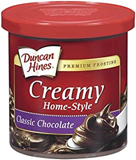 Duncan Hines Creamy Home-Style Frosting, Classic Chocolate, 16 Ounce, Pack of 8