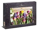 Ulmer Puzzleschmiede - Puzzle Flores de Primavera - Puzzle de 1000 Piezas - Tulipanes Coloridos y...
