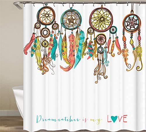 ZZZdz handgeschilderd. Mooie dromenvanger. Huisdecoratie. Douchegordijn. 180 x 180 cm. 12 vrije haken. 3D Hd-druk. Rijke patronen.
