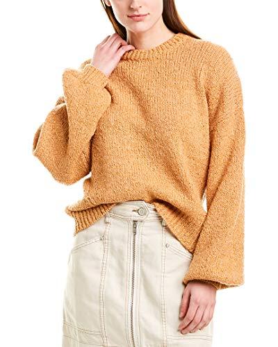 Joie Womens Ojo Cozy Wool Blend Crewneck Sweater Tan M