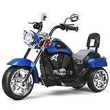 Costzon Kids Ride on Chopper Motorcycle, 6 V Battery Powered Motorcycle Trike w/Horn, Headlight,...
