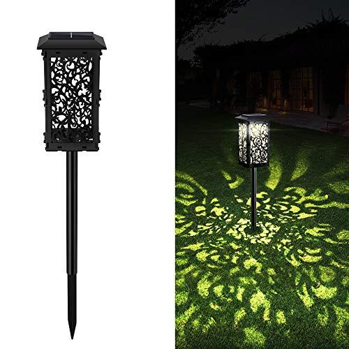 Solarleuchten Garten für Außen 1 Stück Solarlampen für Außen Garten IP65 Wasserdicht Dekorative LED Solar Gartenleuchten für Terrasse Rasen Garten Hofwege Wegeleuchten