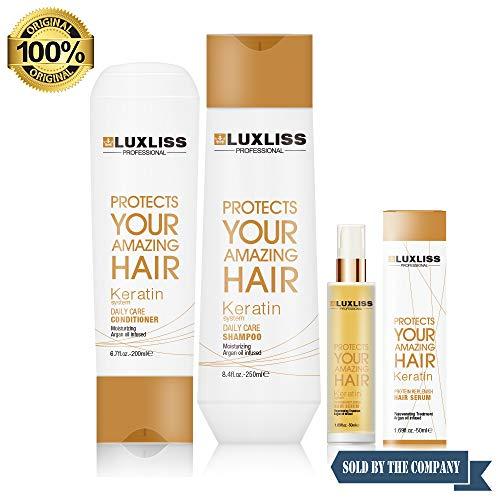 Luxliss Keratin Dailycare Shampoo Keratin Daily Care Conditioner And Keratin Protein Replensh Hair Serum (250ml/200ml/50ml)