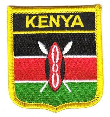 Wappen Aufnäher Patch Kenia Flagge Fahne NEU