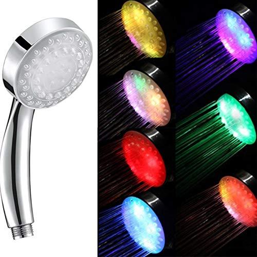 Duschkopf, Handbrause, Badezimmer, Universal, 7 LEDs, Farbwechsel, automatisch, hohe Drucksparung, Schutz Ionen, 3 Stufen