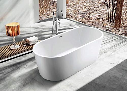 Freistehende Badewanne Acryl Wanne 150x70x56 cm weiß Standbadewanne
