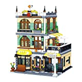 FADF Street View Building, 1186 piezas modulares Kit de casa de arquitectura Roma Restaurantes Set de construcción compatible con Lego