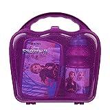 Scooli FRUW9860 Geschirrset im Koffer, Brotdose mit Clip und Trinkflasche 400 ml, Disney Frozen, leicht zu öffnen und zu schließen, BPA und Phthalat frei
