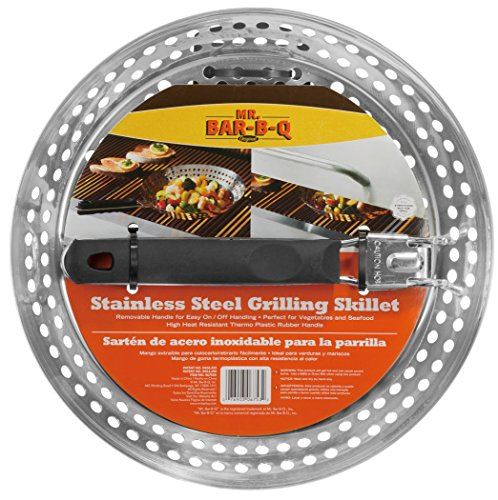 Mr. BBQ Stainless Steel Skillet with Removable Heat Resistant Handle