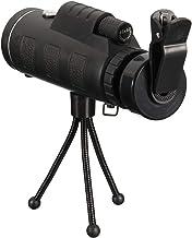 Homyl óptico De 40X60 Lente HD Telescópio Monocular + Tripé + Clipe Para Telefone Inteligente