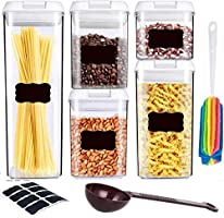 Save on Air-Tight Container Set - Pantry Durable Seal Pot - Cereal S