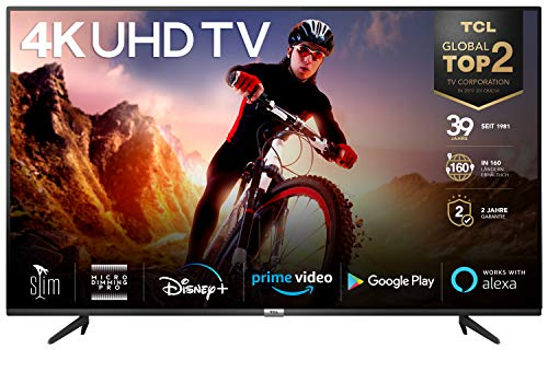 TCL 43BP615 108 cm (43 Zoll) LED Fernseher Smart TV (4K Ultra HD, HDR 10, Triple Tuner, Android TV, Micro Dimming PRO, Prime Video, Alexa und Google Assistant) Schwarz [Modelljahr 2020]