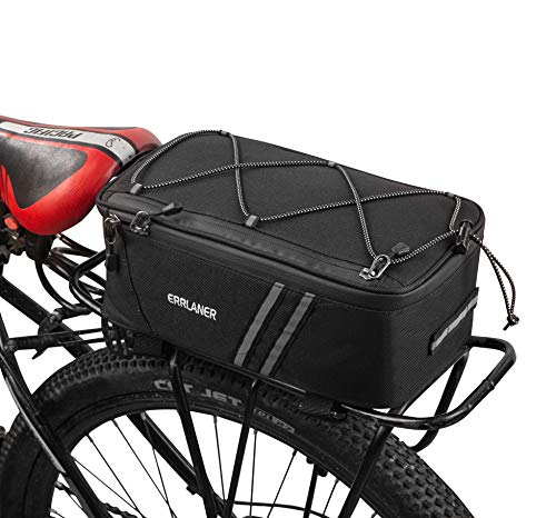 ERRLANER Bicycle Rack Rear Carrier Bag Insulated Trunk Cooler 7L Large Capacity Storage Luggage Pouch Reflective MTB Bike Pannier Shoulder Bag with Rain Cover