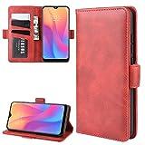 Funda telefónica para Xiaomi For lado doble Xiaomi redmi 8A magnética del caso del tirón del cuero de la hebilla horizontal con el sostenedor y ranuras for tarjetas y monedero y marco de fotos