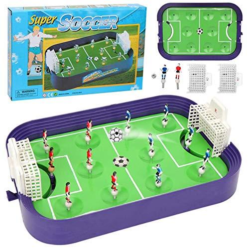 Tischfussball Kinder, Lernspielzeug Finger zum Handeln wettbewerbsfähiges Mini-Fußballfeld Eltern-Kind-Brettspielzeug Für Interaktives Auswerfen