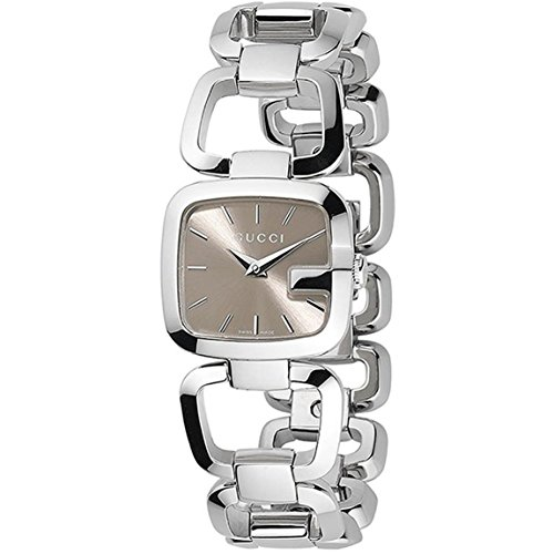 Gucci G-Gucci Brown Dial Stainless Steel Quartz Ladies Watch YA125507