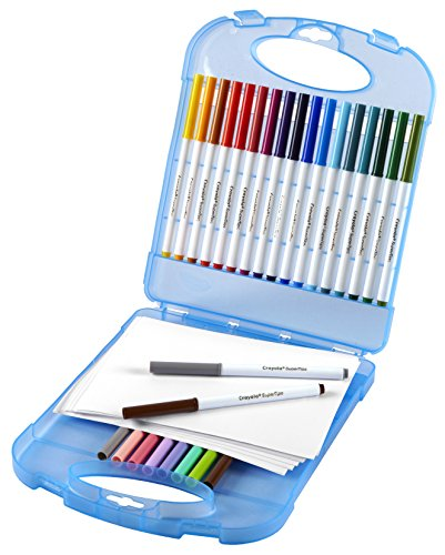 Crayola Super Tips Washable Marker Set, 65Piece, Gift for Kids
