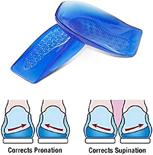 SOHAPY Silicone Posture Corrective Heel Cups Shoe Inserts for Sore Heel Pain for Women and Men Corrective Over-Pronation Supination Shoe Inserts 1 Pair Large (Large)