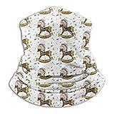 Yuanmeiju Abrigo de bufanda para el cuello, pasamontañas de cuello de caballo mecedor bohemio, protectores faciales ligeros para escalada deportiva, 26x30cm