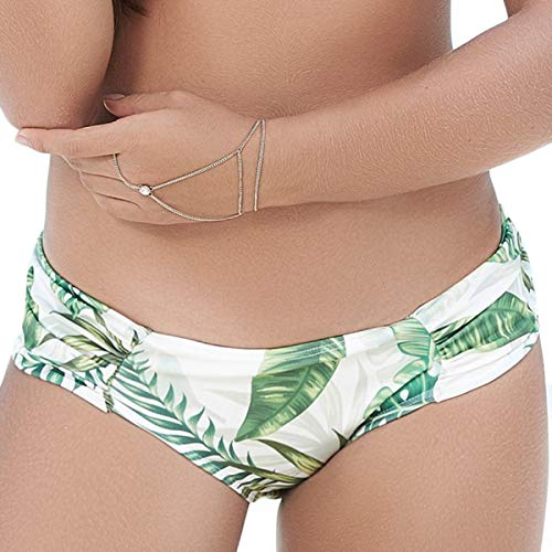 Mapale 6851 Waistband Ruched Panty Swimsuit Bottom Color Rainforest Size M
