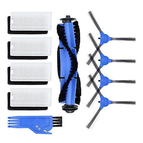 DingGreat Zubehör für Eufy RoboVac 11S RoboVac 30 RoboVac 30C RoboVac 15C Staubsauger Ersatzteile Packung mit 1 Rollbürste 4 Filter Set 4 Seitenbürsten 1 Reinigungsbürste