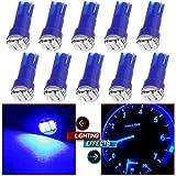 85 chevy truck gauges - 10 Pack T5 73 Wedge 3-3014SMD Instrument Gauge Dash Light LED Bulbs (Blue)
