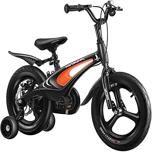 Bicicleta de niños de 18 Pulgadas de, Bicicleta para niñas Marco de Acero de Alto Carbono, Bicicletas de montaña adecuadas para niños de 10 a 13 años, con Ruedas auxiliares y Corchetes.