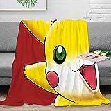 Elliot Dorothy Pokemon Pikachu anime cómic de dibujos animados suave franela manta varios diseños y color ligero mejora el sueño 60 x 80 pulgadas
