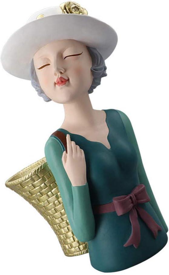 Cabilock Girl Figurine Flower 安心の定価販売 Vase T Basket with Women Figurines ショップ