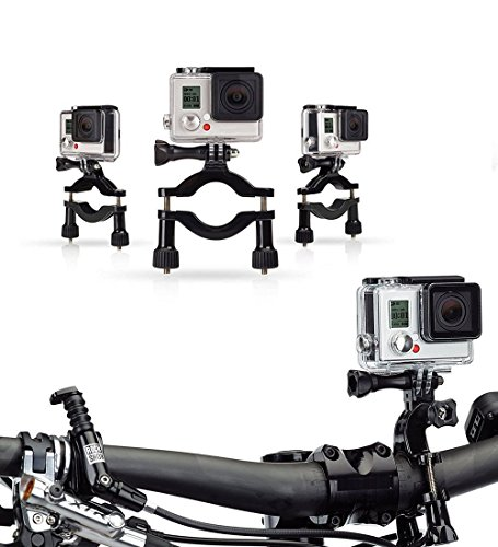 Navitech Cycle/Bike/Bicycle & Motorbike Roll Bar Mount Compatible with The Excelvan Q8 Action Cam (16MP FHD 1080P Wi-Fi Waterproof Sport Camera, 2.0 Inch