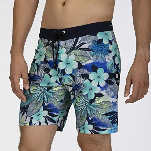 Hurley M Phtm Spraygun 18' Shorts da Surf, Uomo, Half Blue, 33