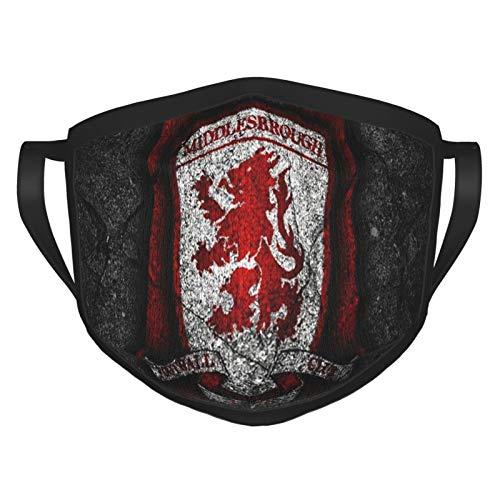 Protector de boca Middlesbrough Fc Logo lavable reutilizable cara boca cubierta cuello polaina bandana bufanda anti polvo pasamontañas protección solar