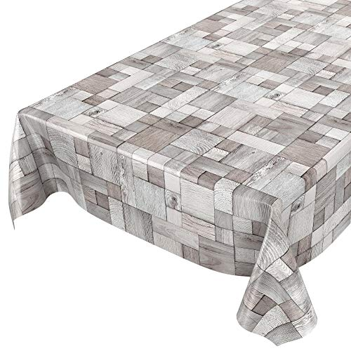 Mantel tipo hule encerado, diseño de madera, tamaño a elegir, plástico, sättige, beständige Farben, 100 x 140cm