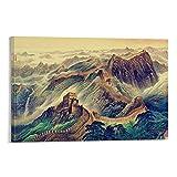 LAJITONG Cuadro histórico de la civilización china, gran lienzo de pared, póster y arte de pared, impresión moderna para dormitorio familiar de 60 x 90 cm