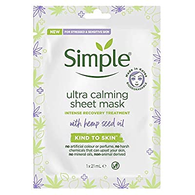 Simple Ultra Calming Sheet Mask from Unilever
